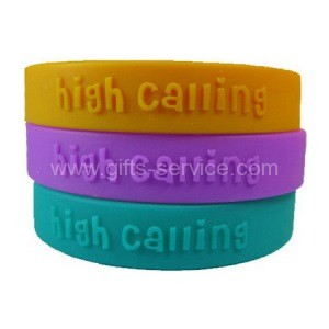 Advertising Embossed Silicone Bracelets