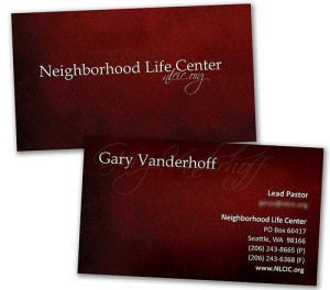 Custom Made Plastic Business Card