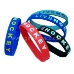 Debossed Colourfilled Silicone Bracelets
