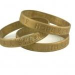 Gold Promo Silicone Bracelets