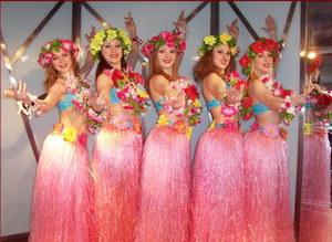 Hawaiian Skirt Set