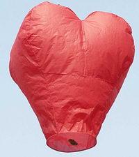 Heart Shaped Sky Lanterns