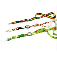 Printed Lanyards with Integrated Watch