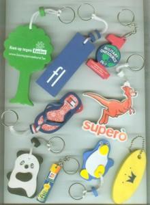 advertising eva key chains pendant