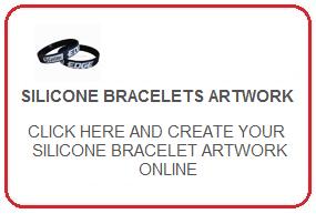 silicone braceletes artwork online
