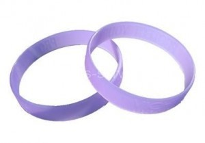Branded UV Reflective Rubber Bracelets