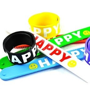 Custom Made Slap Rubber Bracelets