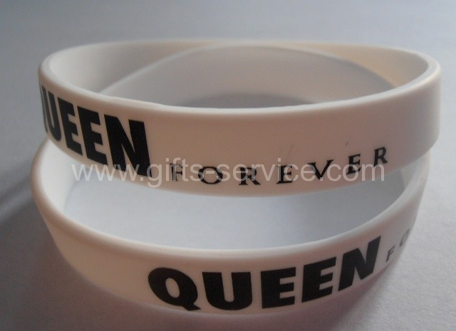 Custom printed silicone bracelets
