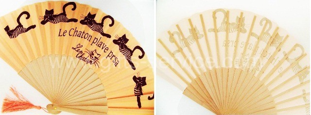 promotional custom made hand fans