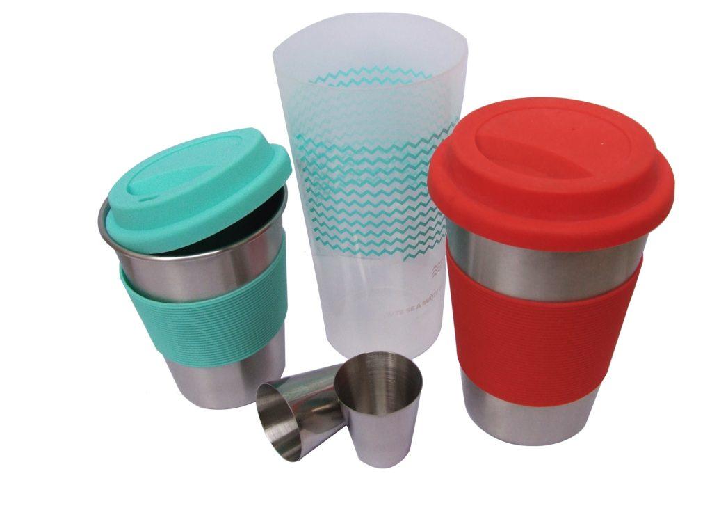 nerezové vratné ekologické pohárky pro teplé i studené nápoje