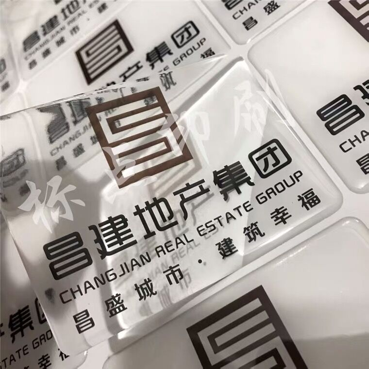 tranparent epoxi drop sticker 3d