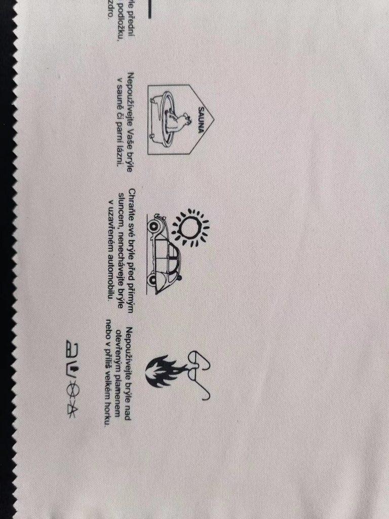 Na zakázku vyráběná čísící utěrka z mikrovlákna