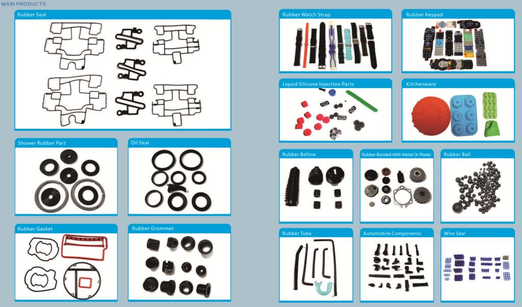 Výroba průmyslových silikonových dílů a součástek na zakázku