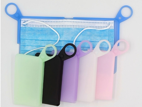 Mini reklamní silikonové pouzdro na roušku na klíče