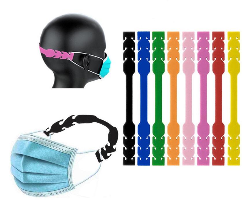 zakazkově výráběný silikonový držák roušky proti odstávání uší