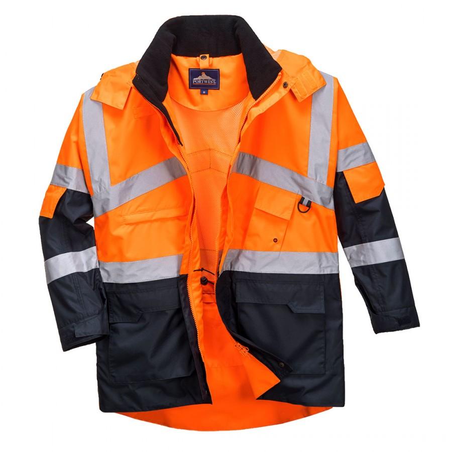 Πορτοκαλί γιλέκο για νυχτερινή εργασία