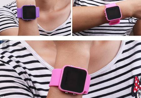 Gumové reklamní hodinky