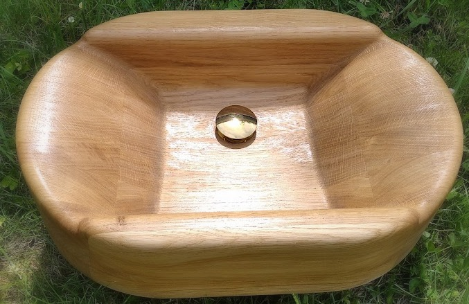 Originální dřevěná umyvadla z masivu