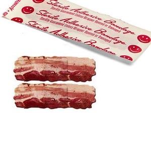 Zákazková výroba náplastí v tvare slaniny
