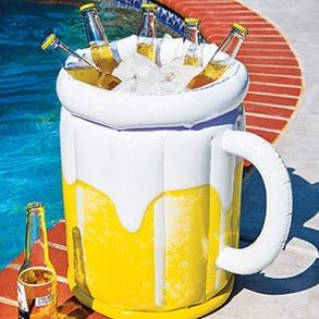 Produktová nafukovací maketa - kbelík na led a lahve s pitím