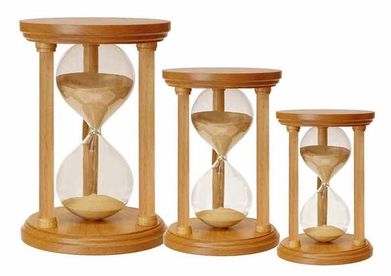Výroba přesýpacích hodin na zakázku