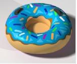 Produktová nafukovací maketa - Donut pro jízdu na sněhu